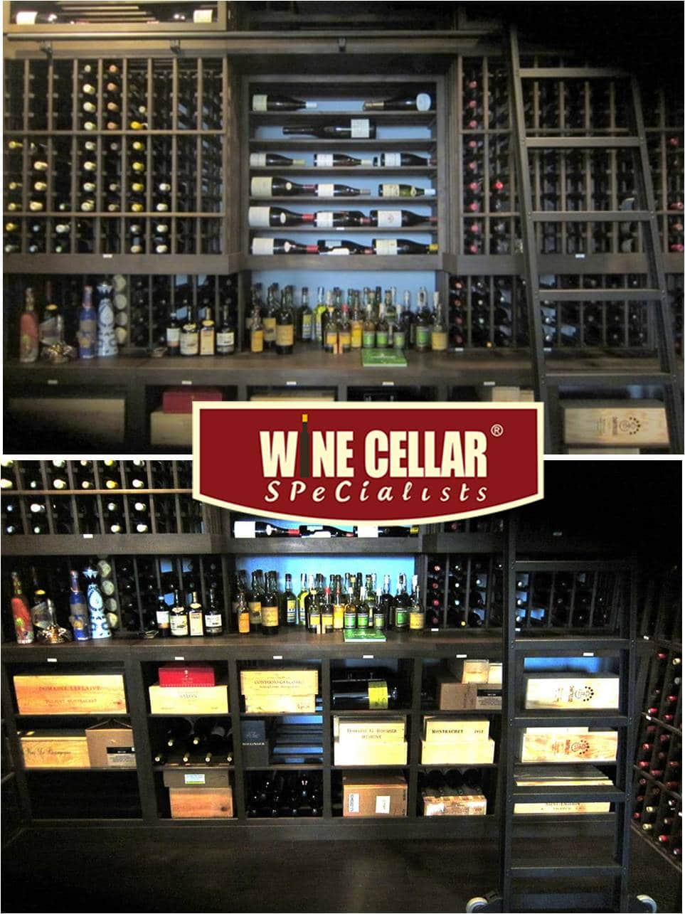Custom Home Wine Cellar Installation Project by Dallas Builders
