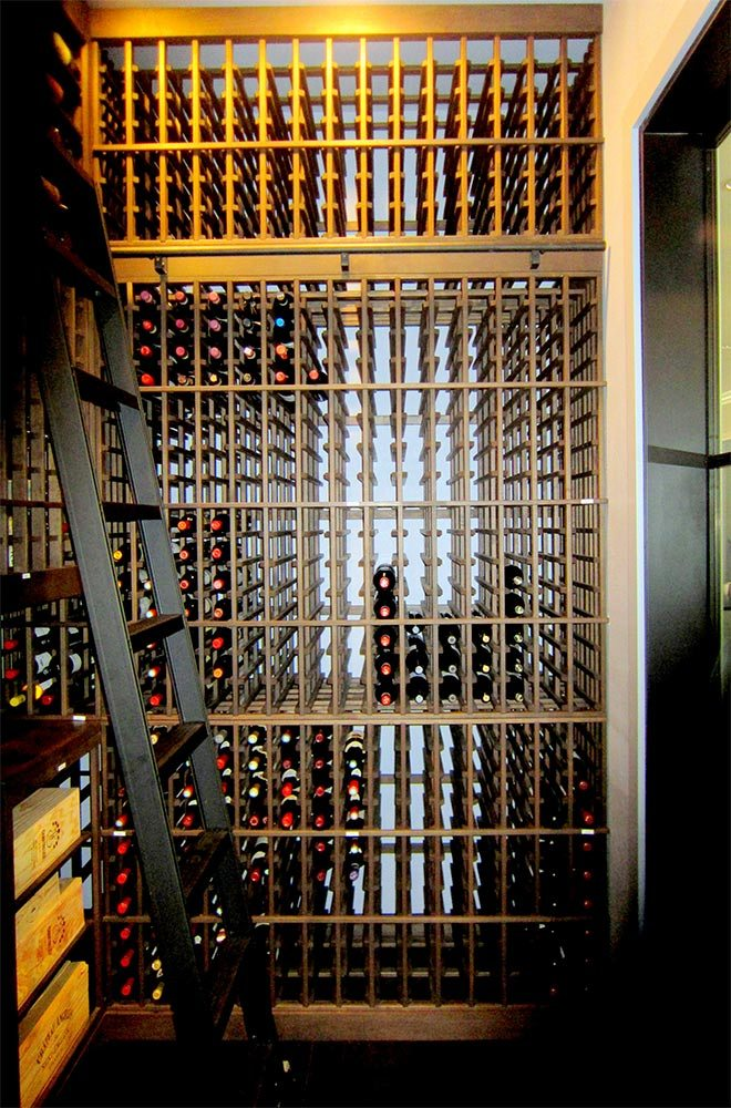 Custom Wine Cellar Rack Design for Massive Storage Dallas Builders