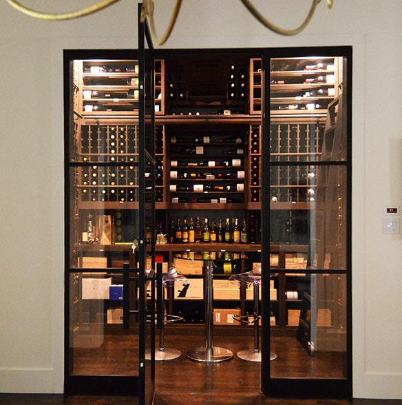 Custom Wood Wine Racks W Massive Storage In Preston