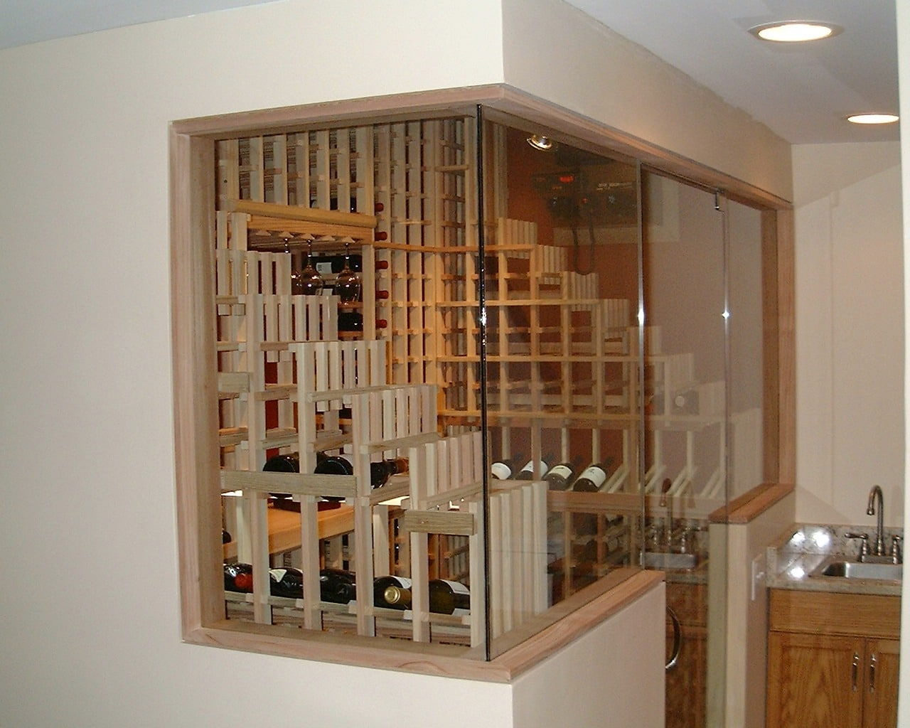 Home Wine Cellar Cooling Project WhisperKOOL Self-Contained System