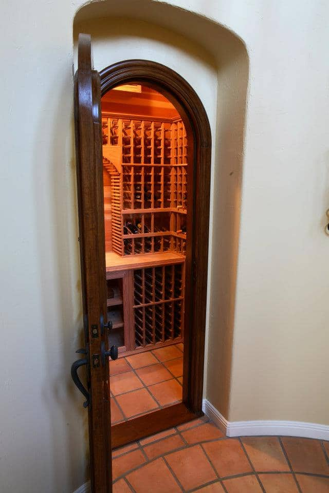 Entrance to a Beautiful Residential Custom Wine Cellar