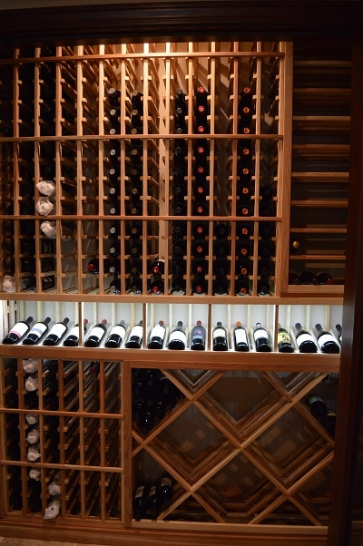 Custom Wine Rack Design by a Los Angeles Master Builder